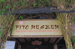 FITO Museum of Traditional Vietnamese Medicine Ho chi Minh City Vietnam Stock Image