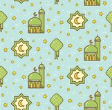 Fitr del al de Eid o fondo del garabato de la historieta de la celebraci?n del Ramad?n para libre illustration