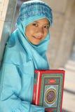 fitri女孩idul穆斯林 免版税库存图片