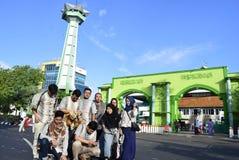 Fitri d'idul de prière à Semarang Image stock