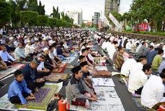 Fitri del idul di preghiera a Samarang Fotografia Stock