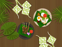 Fitri ied voedsel Indonesië van Ketupatlebaran idul Royalty-vrije Stock Foto's