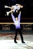 Fitta di Qing e tenaglie di Jian al premio dorato del pattino 2011 Fotografia Stock Libera da Diritti