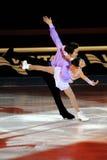 Fitta di Qing e tenaglie di Jian al premio dorato del pattino 2011 Immagine Stock