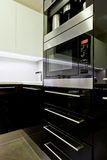 Fitted kitchen appliance Stock Photography