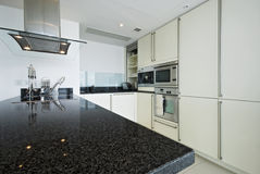 Fitted modern kitchen. Fully fitted modern kitchen with all appliances Royalty Free Stock Photos