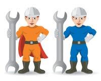 Fitter mechanic repairman mascot Stock Image