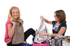 Fitting clothes Royalty Free Stock Photo