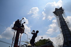 FITTING COMBAT MOBILE TOWER Stock Photography