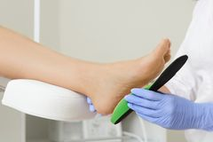 Free Fitting Orthotic Insoles. Stock Photos - 103358973