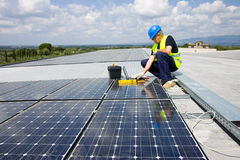 Fitting Photovoltaic Stock Image