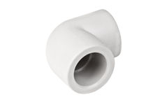 Fitting - PVC connection coupler to connect polypropylene tubes Royalty Free Stock Photos