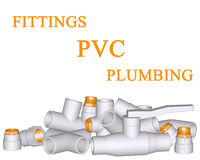 Fitting PVC connection and pipes. Fitting - PVC connection and pipes made of polypropylene 3d on white background Royalty Free Stock Images
