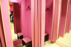 Fitting room. In a modern boutique Royalty Free Stock Images