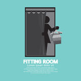 Fitting Room Black Graphic. Vector Illustration Royalty Free Stock Photos