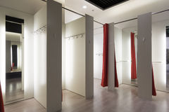 Fitting room interior Stock Photos