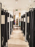 Fitting Rooms. In A Women Shoe Store royalty free stock photography