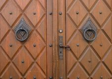 Fittings on a church door. In Bavaria, Germany Royalty Free Stock Images