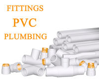 Fittings PVC and pipes Stock Photos