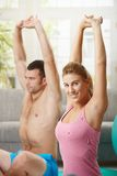 Fittness at home Stock Photography
