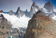 fitz argentina los glaciares mount np Roy Obraz Stock