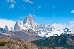 Fitz góra Roy, El Chalten, Patagonia, Argentyna Obrazy Stock