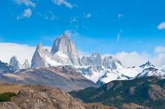 Fitz Roy山, El Chalten,巴塔哥尼亚,阿根廷 库存图片