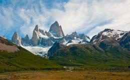 Fitz Roy山, El Chalten,巴塔哥尼亚 库存照片