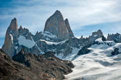 Fitz Roy山, El Chalten,巴塔哥尼亚 免版税库存图片
