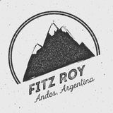 Fitz Roy in Andes, Chile outdoor adventure logo. Stock Photos