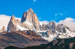 Fitz Roy-berg, Gr Chalten, Patagonië, Argentinië stock afbeelding
