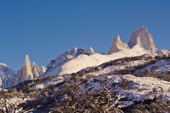 Fitz Roy and Cerro Torre Royalty Free Stock Images