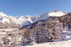 Fitz Roy and Cerro Torre royalty free stock image
