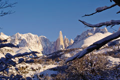 Fitz Roy and Cerro Torre royalty free stock photography