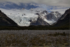 Fitz roy covered by clouds Royalty Free Stock Photography