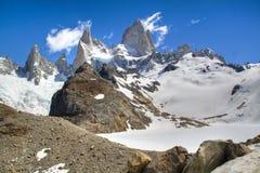 Fitz Roy in El Chalten, Argentina. View over the Fitz Roy mountain in El Chalten, Argentina Stock Images