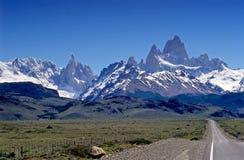 Fitz Roy et Cerro Torre Images libres de droits