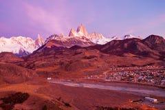Fitz Roy góra, Patagonia Zdjęcie Stock