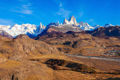 Fitz Roy góra, Patagonia Zdjęcia Royalty Free
