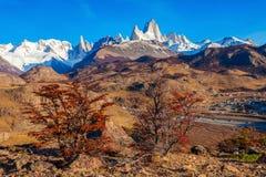 Fitz Roy góra, Patagonia Fotografia Royalty Free
