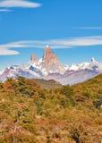 Fitz Roy Halny Odległy widok, Aisen Chile Zdjęcie Royalty Free