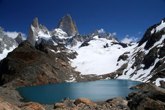 Fitz Roy lagoon Royalty Free Stock Photography