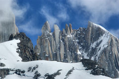 Fitz Roy. Massif in Los Glacares National Park (Patagonia), Argentina Royalty Free Stock Images