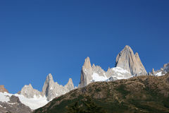 Fitz Roy. Massif in Los Glacares National Park (Patagonia), Argentina Stock Image