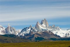 Fitz Roy Mount, Los Glaciares National Park. In Patagonia is one of the most visited places in Argentina stock photography