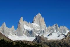 Fitz Roy. Mount Fitz Roy, Patagonia. Rocky summit of beautiful Monte Fitz Roy, Cerro Chalten mountain range located near El Chalten village, in the Southern Royalty Free Stock Photos