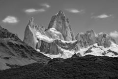 Fitz Roy mountain close up view. Fitz Roy is a mountain located near El Chalten royalty free stock photos