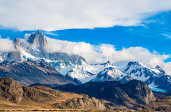 Fitz Roy Mountain El Chalten, Patagonia Royaltyfri Bild