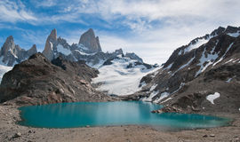 Fitz Roy mountain and Laguna de los Tres,Patagonia Stock Images