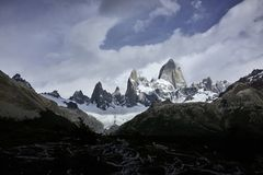 Fitz Roy Mountain Panorama and Landscape